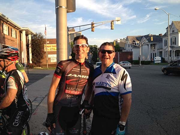 Gary Bernstein rides with Team Jamis