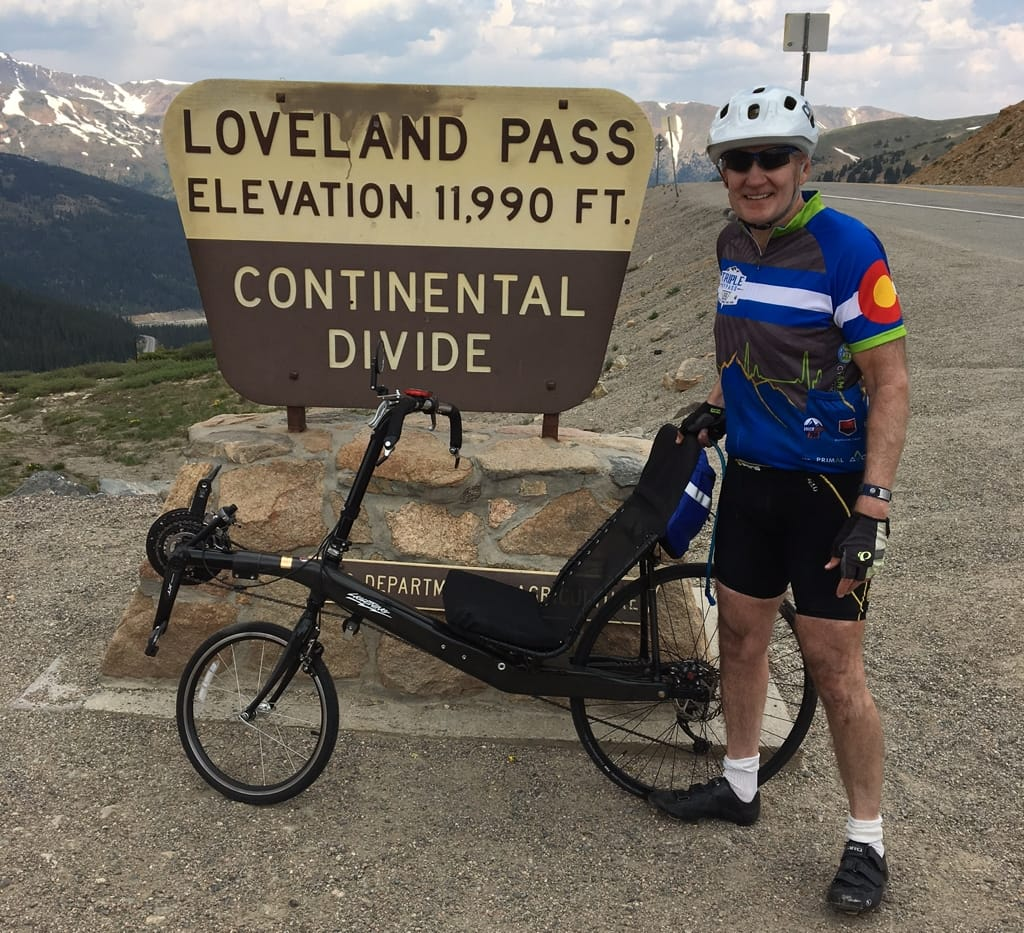 Jeff Carter atop Loveland Pass